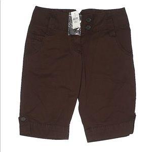 NWT Ann Taylor Brown Khaki Shorts Sz 00